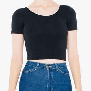 American Apparel Spandex Black Crop Top